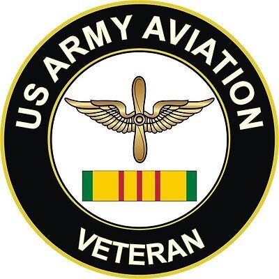 "Army Aviation Corps Vietnam Veteran 5.5"" Window Sticker Decal"