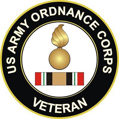 "Army Ordnance Iraq Veteran 5.5"" Decal / Sticker 'Officially Licensed'"