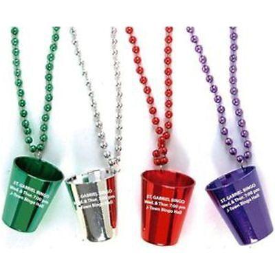 300 Personalized Shot Glasses w/Beads - Custom Wholesale Bulk Lot