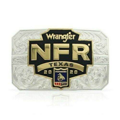 New Montana Silversmiths Belt Buckle 2020 Wrangler NFR Texas PRCA  #NFR320TX