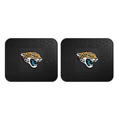 NFL Jacksonville Jaguars Fan Mats Heavy Duty Vinyl Car Truck Rear Floor Mats 2pc Jacksonville Jaguars Nfl Car Mats