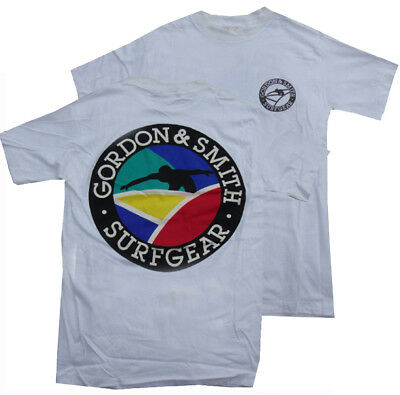 G&S / Gordon & Smith Vintage Surf Tee Shirt - Vintage '80s Surfing Retro - L -CR