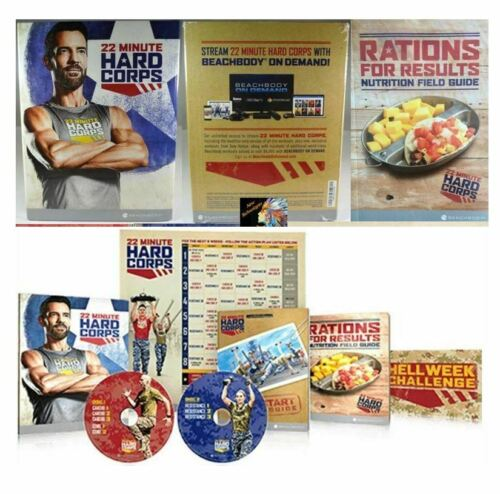 Beachbody 22 MINUTE HARD CORPS Complete Home Fitness Program & 8 Workout DVD Set