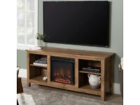 TV stand with country fireplace brand new boxed