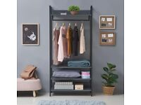 OPEN WARDROBE WITH 4 SHELVES selling at £60