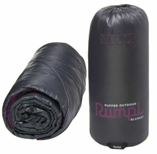 """RUMPL PUFFER OUTDOOR BLANKET, IRON GATE, (45"""" X 65"""") NEW WITH TAGS. LAST ONE!"""