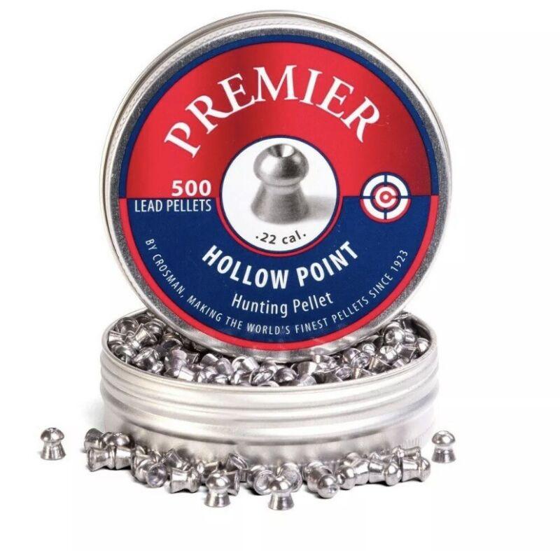 Crosman Premier LHP22 .22-Caliber Hollow Point Pellets 500-Count FAST SHIPPING