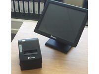 EPOS NOW Retail System Cash Register Touchscreen Monitor Customer Printer Receipt