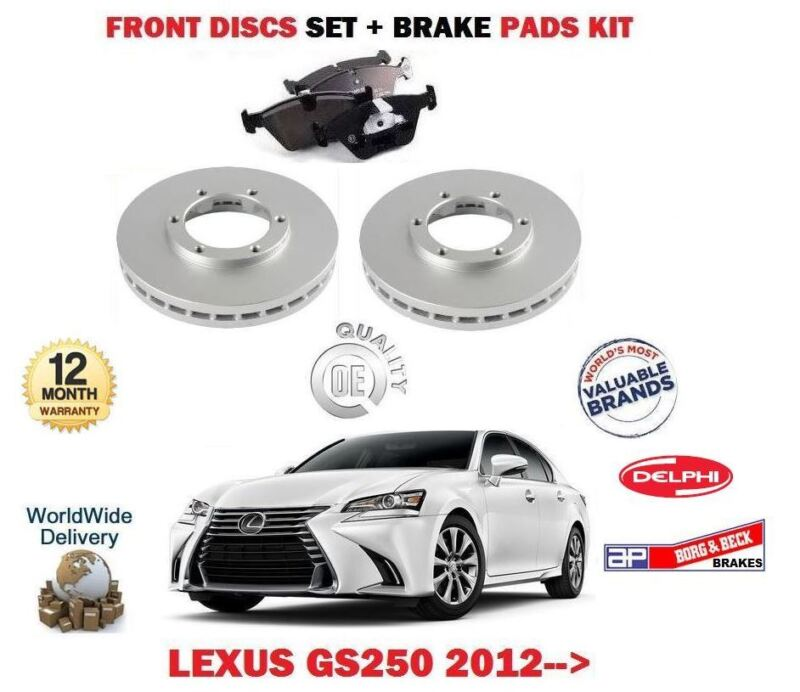 FOR LEXUS GS250 2.5 4GR-FSE 2012-> NEW FRONT BRAKE DISC SET + DISC PADS KIT
