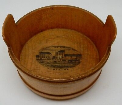Antique Scottish Mauchline Ware Tub Langrune-Sur-Mer France