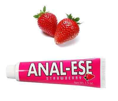 Original Anal-Ese Desensitizer Numbing Cream Lube Strawberry Flavored 1.5oz