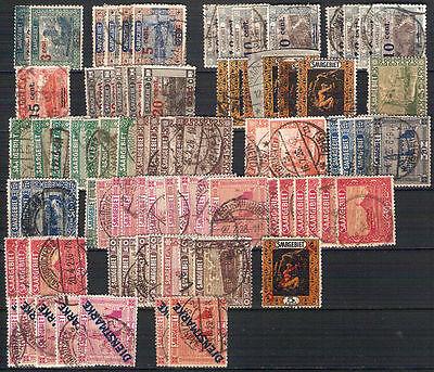Sammlung Saargebiet mit Dienstmarken ungebraucht & gestempelt