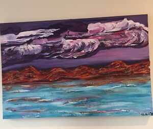 Acrylic Painting of the Kimberley Cable Beach Broome City Preview