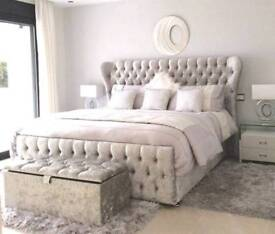 BRAND NEW WINGBACK FRAME BED WITH MATTRESS NOW ON OFFER!!