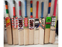 NEW or Used Top Range Good willow great cricket batsHigh Quality Ready to Play Pads Gloves Helmets