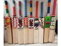 USED & Brand NEW Top Range Good willow great cricket bats already Pre-knocked Ready to Play Wheelie