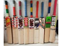 USED & Brand NEW Top Range Good willow great cricket bats already Pre-knocked Ready to Play Wheelie