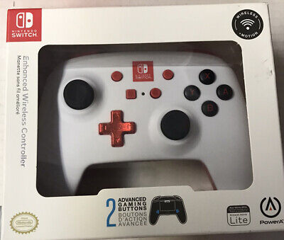 ✅ PowerA Enhanced Wireless Controller for Nintendo Switch - White/Red, Sealed