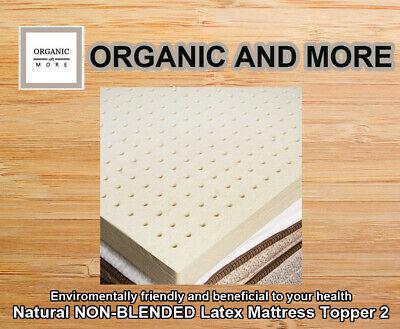 "Natural NON-BLENDED Latex Mattress Topper 2""  | TWIN | Organ"