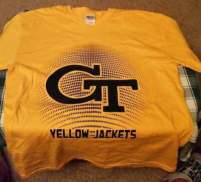 Yellow Jacket Baseball T-Shirt tee Georgia Tech Unisex Adult Size Medium -
