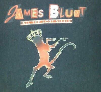 James Blunt 2008 World Tour Concert T Shirt Size M
