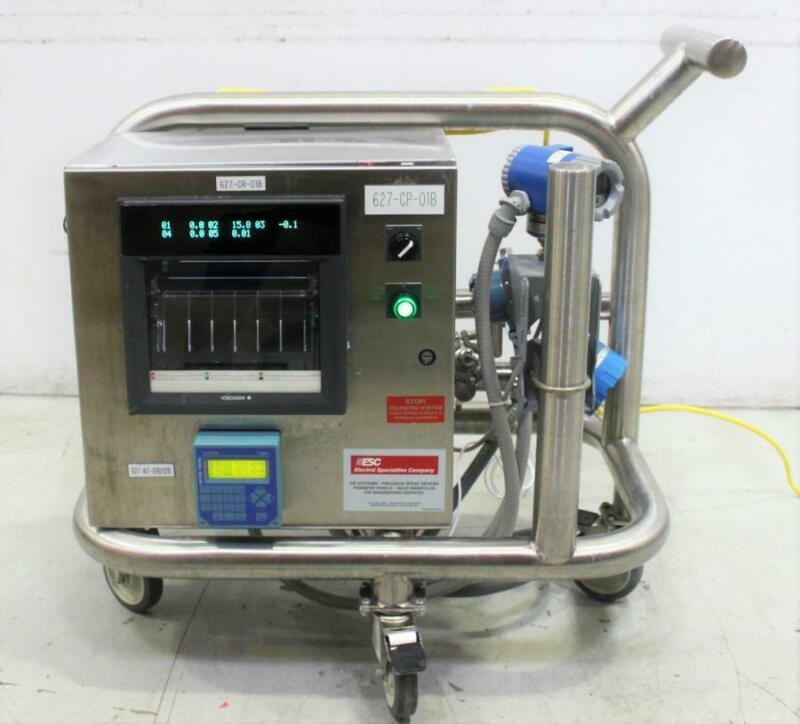 Electrol Specialties Company Clean In Place (CIP) Data Recording Cart