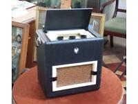 VINTAGE VIDOR BATTERY PORTABLE VALVE RADIO WORKING ORDER WITH MODERN BATTERIES