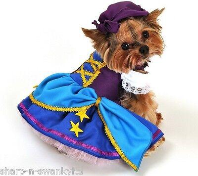 Tier Haustier Hund Katze Gypsy Pirate Party Halloween Kostüm Outfit (Gypsy Katze Kostüm)