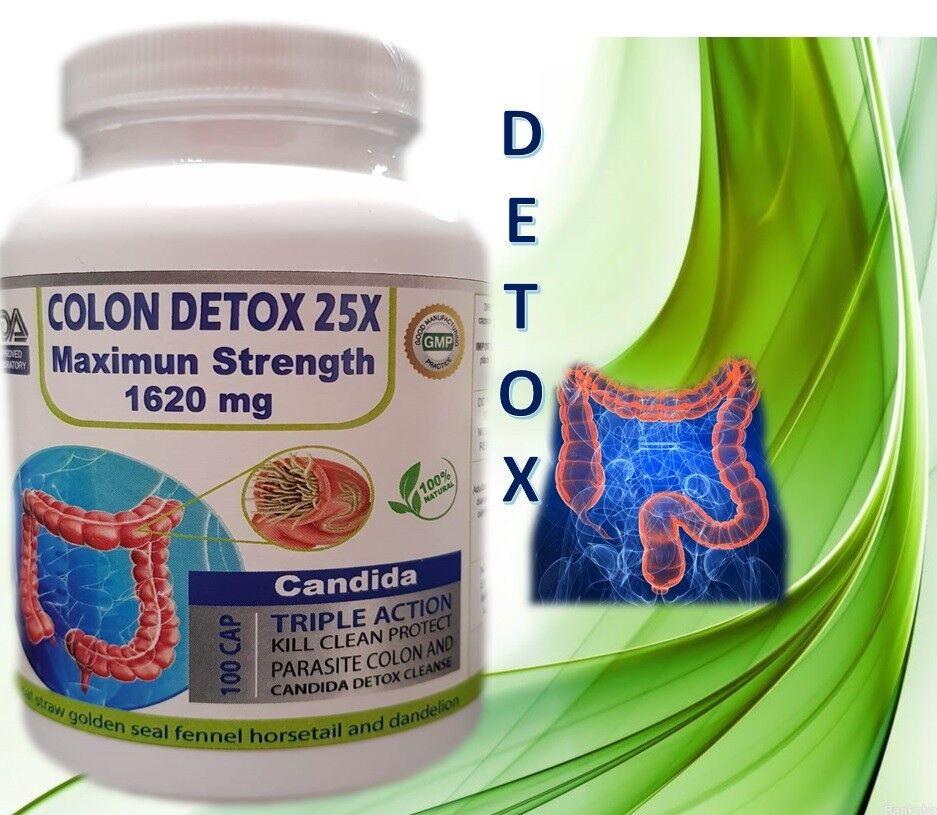 Fast COLON DETOX Clean & Flush Colon Parasite and lower intestines kill egg fast 6