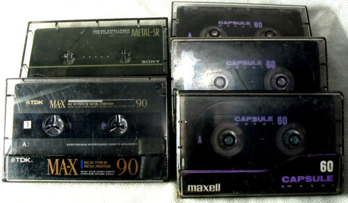 5 Metal,Type IV Cassettes,Maxell,TDK and Sony,Look OK