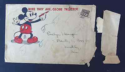 1930's Rare MICKEY MOUSE BREAD GLOBE TROTTERS scrapbook envelope