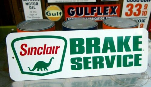 SINCLAIR BRAKE SERVICE SIGN FILLING STATION DINO GASOLINE GAS  REPAIR GARAGE