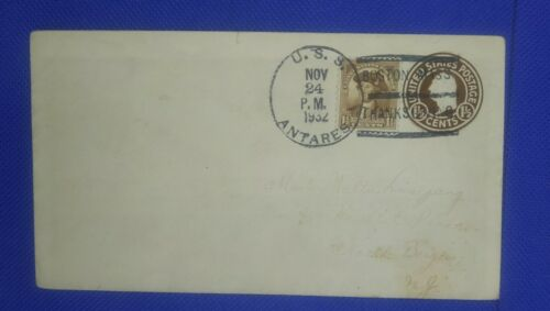 USS Antares 1932 Boston-Thanksgiving Postmark - $4.99