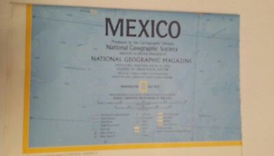 National Geographic Mag -supplement map - mexico - free post