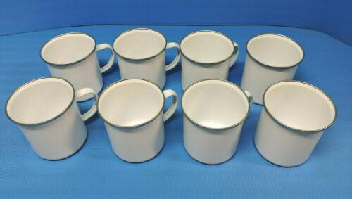 White Camping Mugs Lot of 8