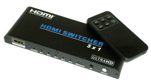 Blackbird 4K 5x1 HDMI 2.0 Switch, HDR, HDCP 2.2, 4K@60Hz with Remote Control