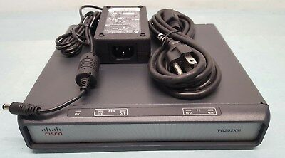 CISCO VG202XM VG SERIES VoIP ANALOG PHONE VOICE GATEWAY w/POWER ADAPTER