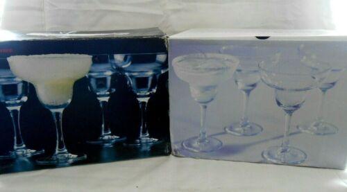 Barware Basics 8 Stemmed Cocktail Margarita Glasses 12oz w/Original Boxes w1s5