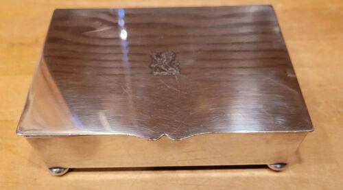 Vntg Silverplate Trinket Box Provenance Charles H. Percy Illinois U.S. Senator