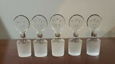 25 Lot Of 5 Pyrex Pennyhead Stoppers 22 Used Lab Glassware
