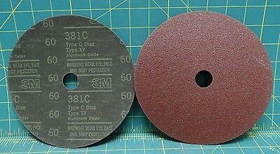 Qty: 2, 3M 381C Type C Disc Type XY Aluminum Oxide 60 Grit 7