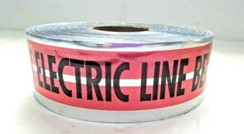 "Premium Detectable Electric Line Underground Marking Tape Empire 31-107 3""x1000"