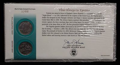 2000 Virginia Official First Day Coin Cover (Q19) UNOPE Official First Day Coin Cover