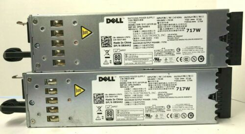 2-LOT Dell RN442 M5FYY 717W Switching Power Supplies for PowerEdge R610 D717P-S0