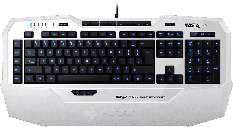 Roccat Isku FX CH Gaming Tastatur Keyboard Beleuchtet weiß LED 01-02-01-9054