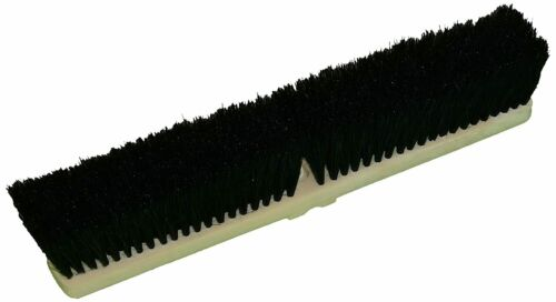 "Zephyr 39604 Block Push Broom, 24"" Head Width, Black (Case of 12)"