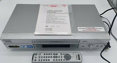 Sony SLV-N750 VCR VHS Player Recorder 4 Head Hi-Fi Stereo 19 micron w/ Remote