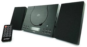 CD Player Bluetooth Denver MC-5010BT Mini HiFi System Stereo Aux In Wall Mount