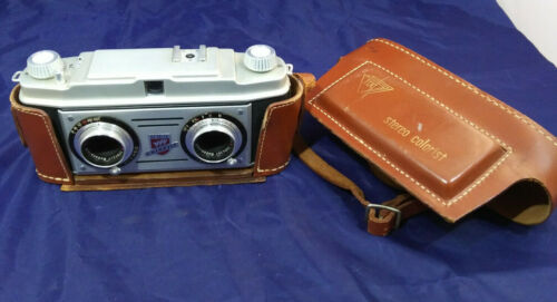 TDC Stereo Colorist 35mm 3D Film Camera + LEATHER CASE Realist. VINTAGE. #108700