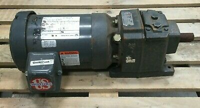 Emerson Browning 1 Hp Unimount Geared Motor 1755 Rpm Emerson 3000 Drive